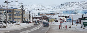 The main town on Baffin Island