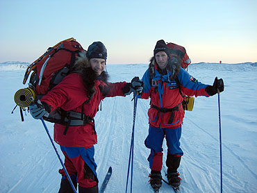 Iain and Richard, Frobisher Bay, Baffin Island